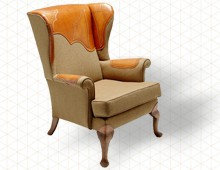 BROGUE WINGBACK CHAIR